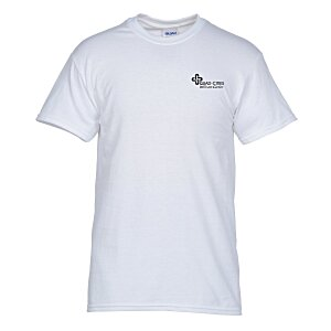 Gildan 5.3 oz. Cotton T-Shirt – Men's - Screen – White