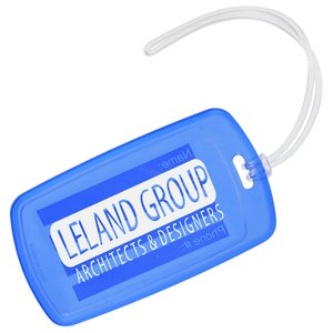 Traveler Rectangle Luggage Tag - Translucent Main Image