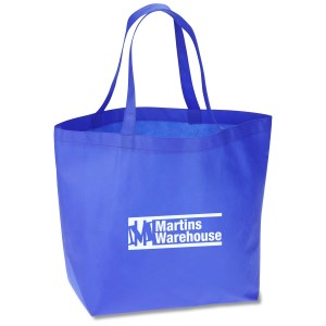 "Bottom Gusset Polypropylene Shopper - 13"" x 19-1/2"" Main Image"