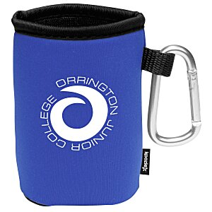 Collapsible KOOZIE® Can Kooler with Carabiner Main Image