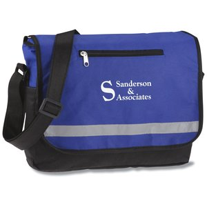 Reflective Polypropylene Messenger Bag Main Image