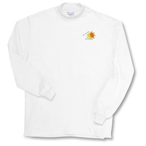 Anvil Deluxe Mock Turtleneck - White Main Image