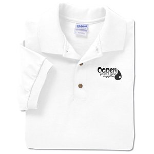 Gildan Cotton Jersey Sport Shirt - Screen - White Main Image