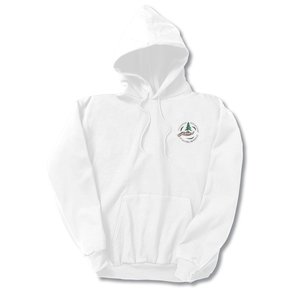 Hanes ComfortBlend Hoodie – Embroidered - White Main Image