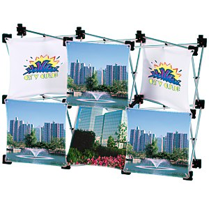 Geometric Junior Pop-Up Tabletop Display - 6 Panel Main Image