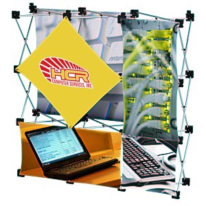 Geometric Junior Pop-Up Tabletop Display - 5 Panel Main Image
