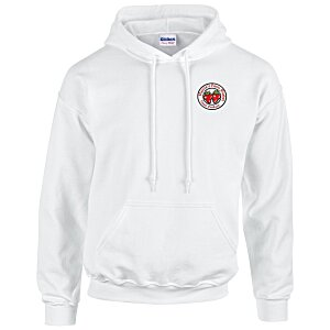 Gildan 50/50 Hooded Sweatshirt - Emb - White