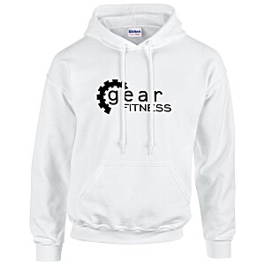 Gildan 50/50 Hooded Sweatshirt - Screen - White Main Image