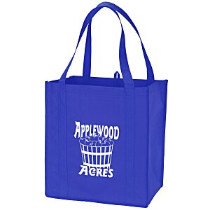 "Value Grocery Tote - 13"" x 12"" - 24 hr Main Image"