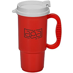 Insulated Auto Mug - 16 oz. - Opaque - White Lid Main Image