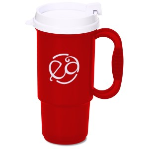 Insulated Auto Mug - 16 oz. - Translucent - White Lid Main Image