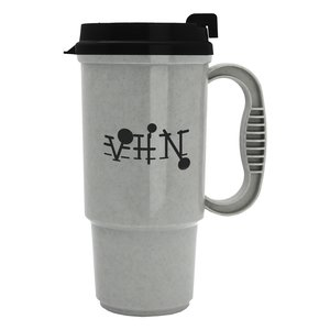 Insulated Auto Mug - 16 oz. - Opaque - Black Lid Main Image