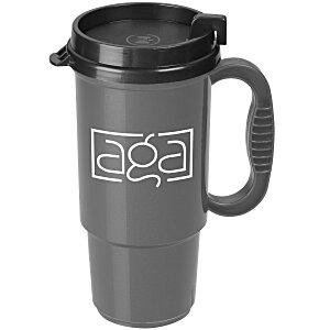 Insulated Auto Mug - 16 oz. - Metallic - Black Lid Main Image