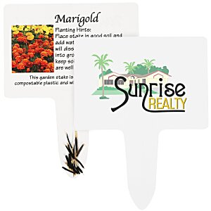 Compostable Seed Stakes - Marigold Main Image