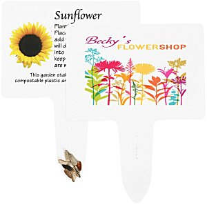 Compostable Seed Stakes - Sunflower Main Image