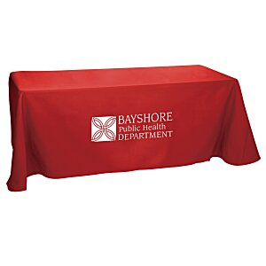 Open-Back Poly/Cotton Table Throw - 6' - 24 hr Main Image