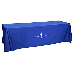 Open-Back Poly/Cotton Table Throw - 8' - 24 hr Main Image