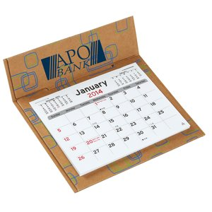 V Natural 3 Month Jumbo Pop-up Calendar - Geo Print Main Image