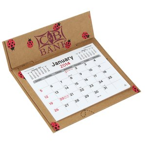 V Natural 3 month Jumbo Pop-up Calendar - Lady Bugs Main Image