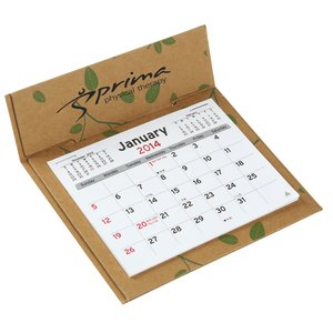 V Natural 3 month Jumbo Pop-up Calendar - Leaves Main Image