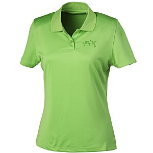Vansport Omega Solid Mesh Tech Polo - Ladies' - Laser Etched Main Image