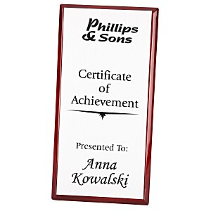 "Rosewood Finished Plaque with Aluminum Plate - 12"" Main Image"