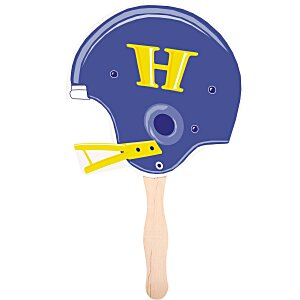 Hand Fan - Football Helmet - Full Color Main Image