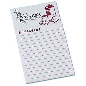Bic Business Card Magnet with Note Pad - Grocery List Main Image