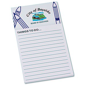 Bic Business Card Magnet with Note Pad - Pencils Main Image