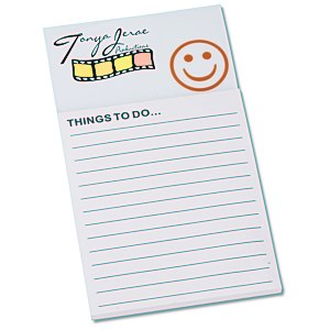 Bic Business Card Magnet with Notepad - Smiley Face Main Image
