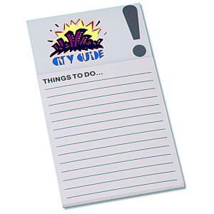Bic Business Card Magnet with Note Pad - Exclamation Main Image