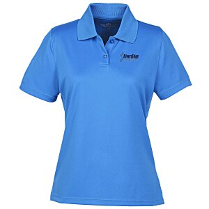 Vansport Omega Solid Mesh Tech Polo - Ladies' - Embroidered