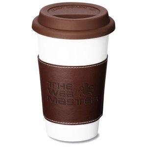 Double Wall Ceramic Tumbler w/wrap - 11 oz. - 24 hr
