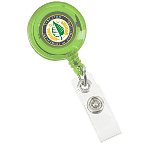 Retractable Badge Holder - Alligator Clip - Trans - 24 hr Main Image