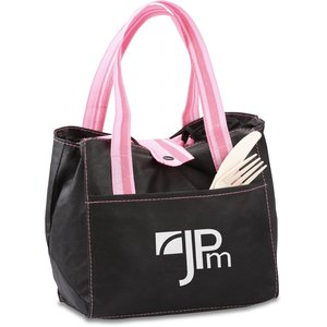 Striped Drawstring Lunch Bag Main Image