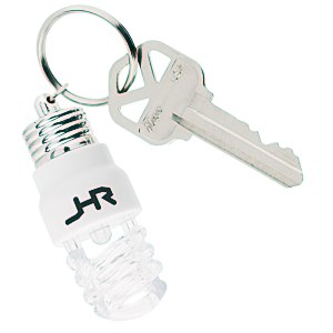 Light Up Light Bulb Key Tag Main Image