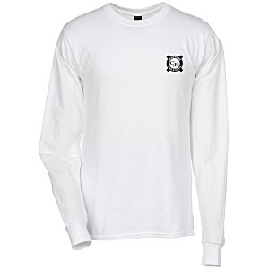 Hanes Beefy-T LS - Screen - White Main Image