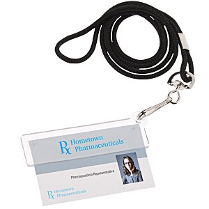 Easy Slide ID Holder with Lanyard Main Image