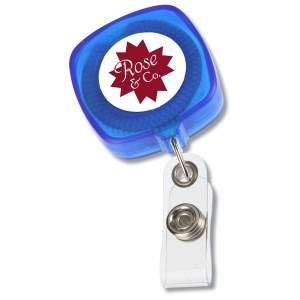 Retractable Tape Measure Badge Holder - Translucent Main Image