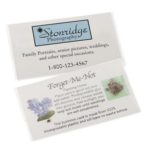 Compostable Business Card with Seeds - Forget Me Not