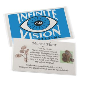 Compostable Business Card w/Seeds - Money Plant Main Image
