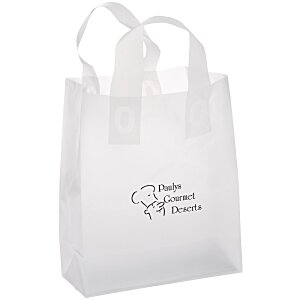 "Soft-Loop Frosted Clear Shopper - 10"" x 8"""