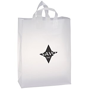"Soft-Loop Frosted Clear Shopper - 17"" x 13"""
