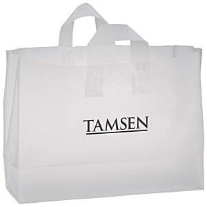 "Soft-Loop Frosted Clear Shopper - 12"" x 16"" Main Image"