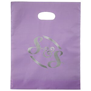 "Colored Frosted Die-Cut Convention Bag – 15"" x 12"" - Foil"