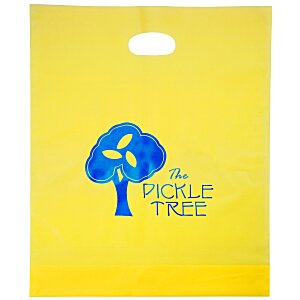 "Colored Frosted Die-Cut Convention Bag – 18"" x 15"" - Foil Main Image"