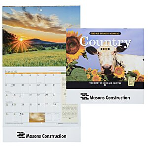 The Old Farmer's Almanac Calendar - Country- Stapled - 24 hr Main Image