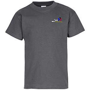 Hanes Tagless T-Shirt - Youth - Embroidered - Colors Main Image
