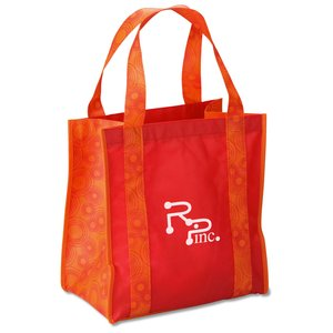 "Grande Printed Shopping Tote - 14"" x 12-1/2"" - Circles Main Image"
