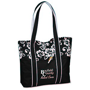West Hampton Tote - Hibiscus Main Image